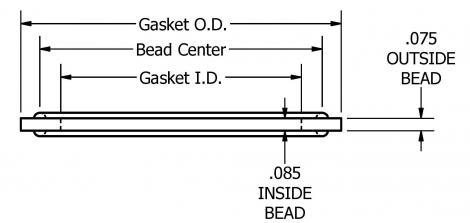 EPDM gasket voor 63,50x1,65mm buis