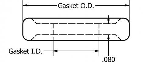 EPDM mini gasket voor 19,05x1,65mm buis