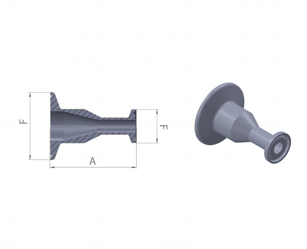 DT-21A (Lang) Concentrische Reducer 63,50x1,65/38,10mm CxC SF4