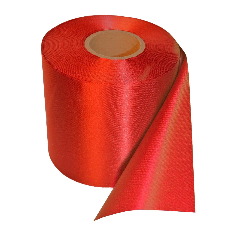 Ceremonie lint 10 cm x 200 cm (rood)