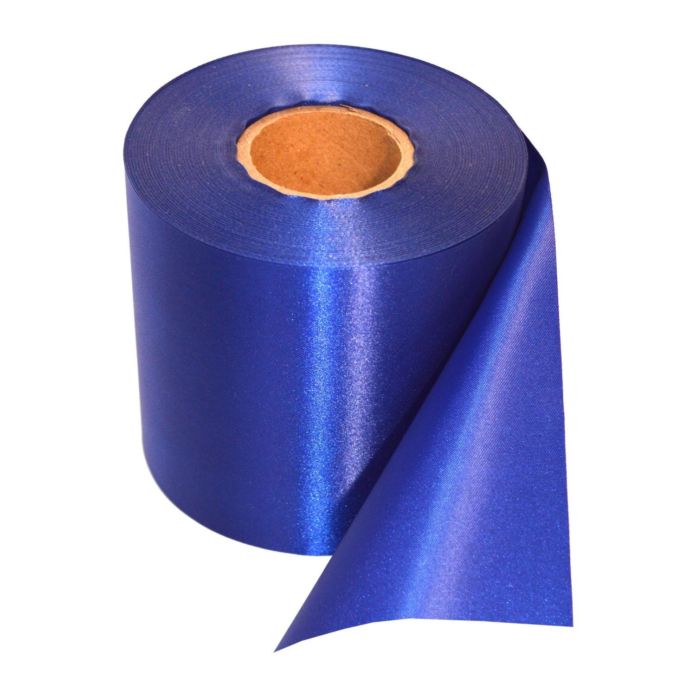 Ceremonie lint 10 cm x 200 cm (blauw)