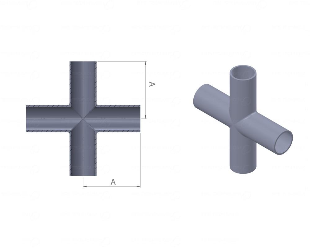 DT-09 Cross 25,40 x 1,65mm WxWxWxW SF1