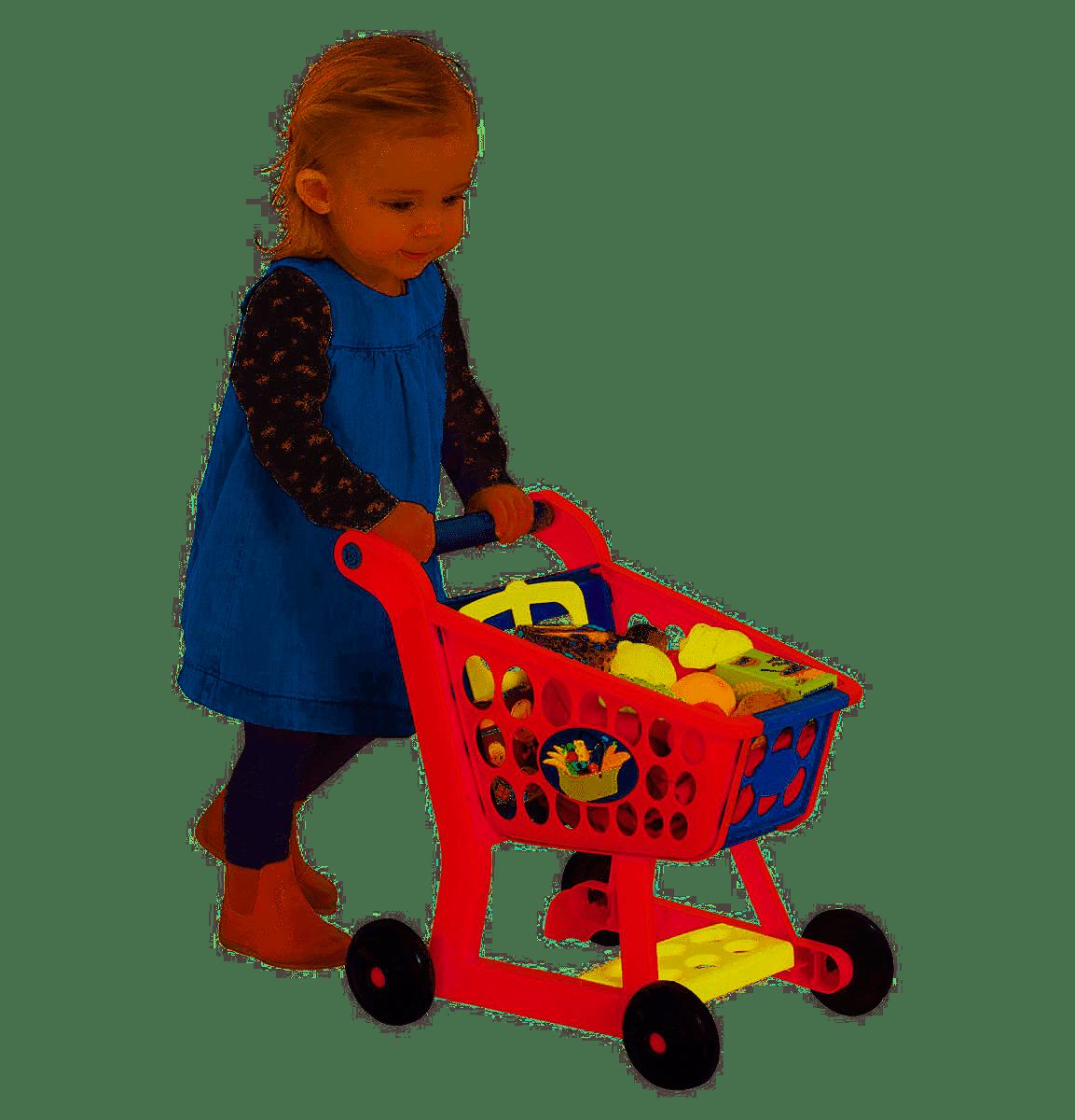 Dagaanbieding - Kinder Winkelwagen met 14 accessoires. dagelijkse koopjes