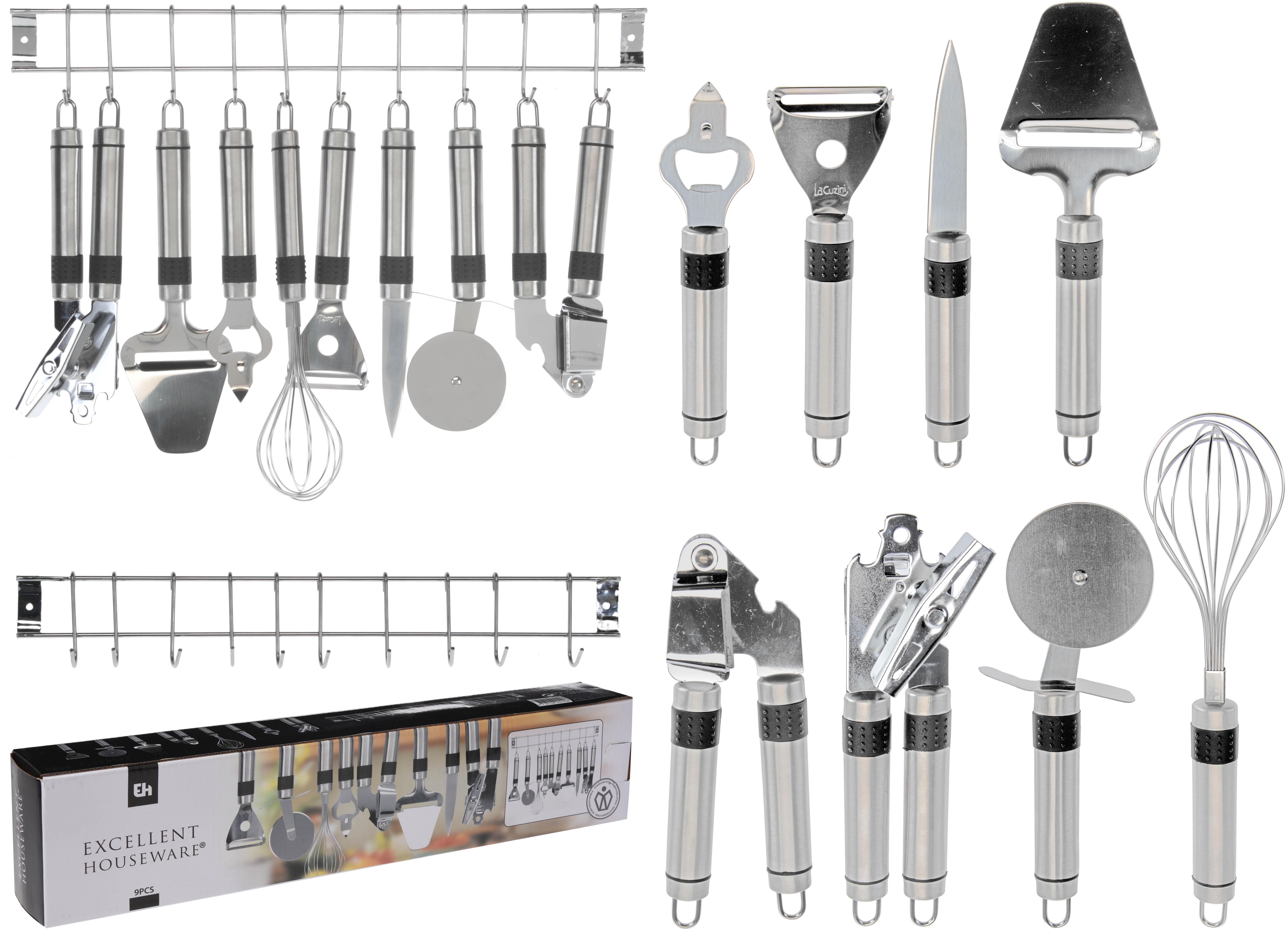 Dagaanbieding - EH 9 delige keukenset van RVS dagelijkse koopjes