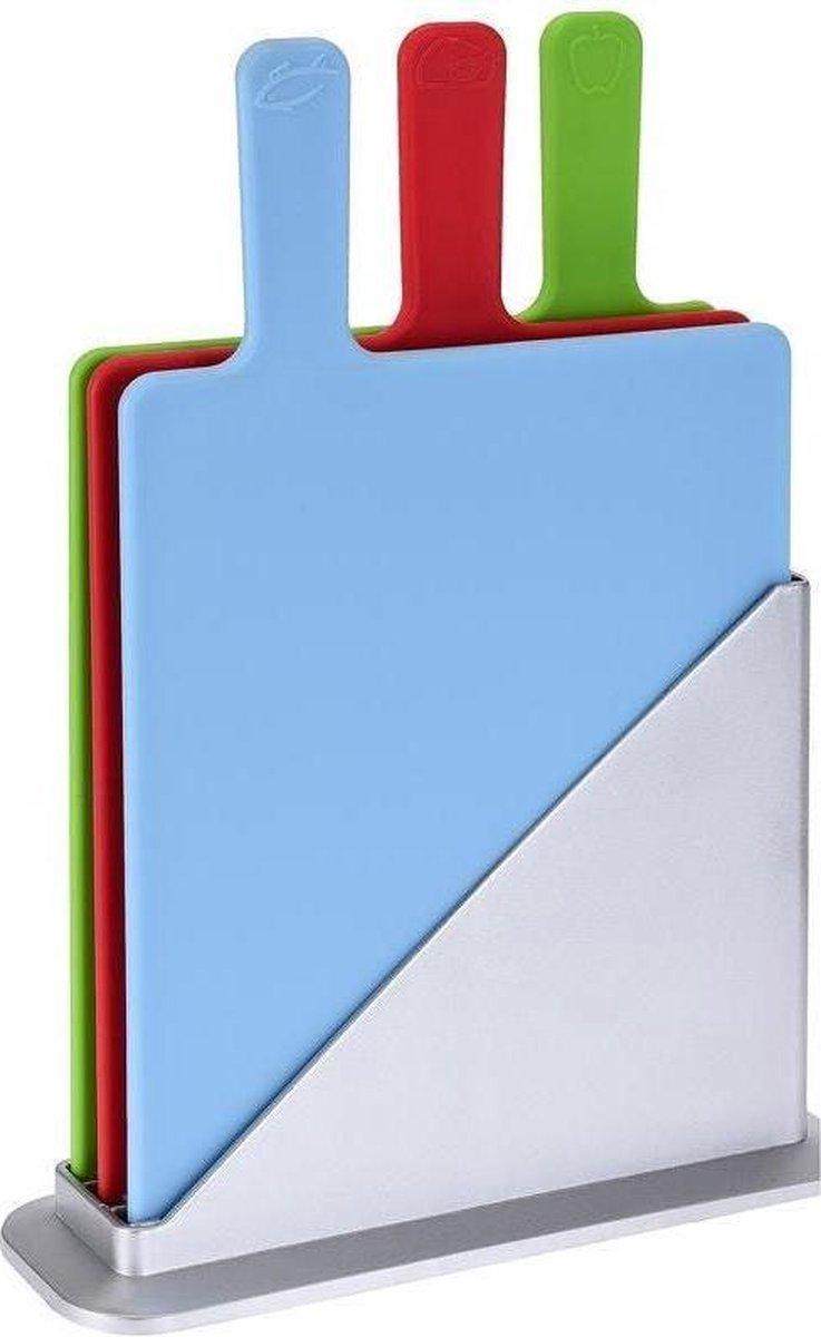 Dagaanbieding - Snijplankenset met houder - 4 delig dagelijkse koopjes